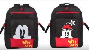 Mochila Escolar Dermiwil Mickey Mouse ou Minnie - Disney | R$105
