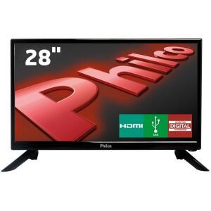 """TV LED 28"""" HD Philco PH28N91D com Conversor Digital Integrado, Som Surround, DNR, Entrada HDMI e USB por R$ 599"""