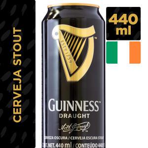 Cerveja Irlandesa GUINNESS Draught Lata 440ml | R$12