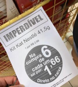 6 Kit Kat, de qualquer sabor, por R$10 nas Lojas Americanas [Loja Física]