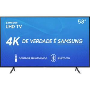 "Smart TV LED 58"" Samsung 58RU7100 Ultra HD 4K (Cupom)"