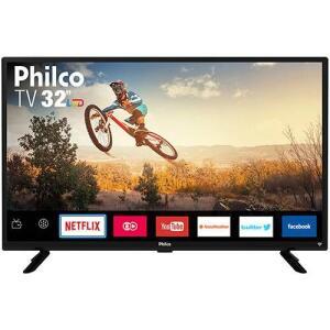 "Smart TV LED 32"" Philco PTV32G50SN HD com Conversor Digital 2 HDMI 1 USB Wi-Fi Áudio Dolby Preta R$714"