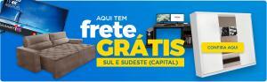 Frete grátis para capitais do Sul e Sudeste na loja Madeira Madeira