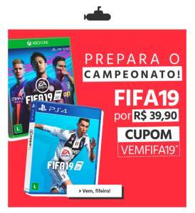 [APP SUBMARINO] CUPOM FIFA 19 - PS4 / XBOX ONE