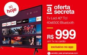 """[APP] Smart TV LED 40"""" Android TCL 40s6500 Full HD c/ Conversor Digital Wi-Fi Bluetooth 1 USB 2 HDMI, Controle Remoto c/ Comando de Voz"""