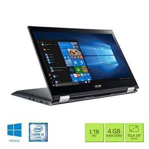 "Notebook 2 em 1 Acer Spin 3, SP314-51-31RV, Intel Core i3 7020U, 4GB RAM, HD 1TB, tela 14"" LED, Windows 10"
