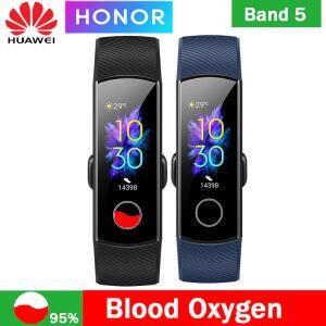 Huawei Honor Band 5 Pulseira Inteligente Dar a Frequência Cardíaca Oxímetro Magic Color Touch Screen etect - R$116
