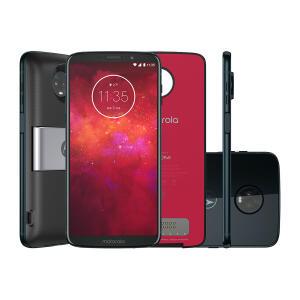 "Smartphone Moto Z3 Play Power Pack & DTV Edition 64GB Indigo Tela 6"" Câmera 12MP Android 8.1 | R$1.299"