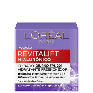 [Com AME R$49] L'oréal Paris Rivitalift Hialurônico Fps 20 Tratamento Diurno - Anti-idade 50ml | R$65