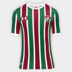 Camisa Fluminense I 17/18 s/nº Torcedor Under Armour Masculina - Tam. P   R$60