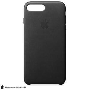 Capa para iPhone 7 e 8 Plus de Couro Preto - Apple