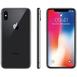 Iphone X Apple 64GB Cinza Espacial Tela Super Retina Hd Oled 5.8 iOS 11 - R$4.500