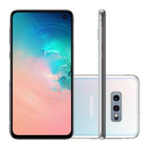 "Smartphone Samsung Galaxy S10e 128GB Branco Tela 5.8"" Câmera Dupla 16MP Selfie 10MP Dual Chip Android 9.0 - R$2499"