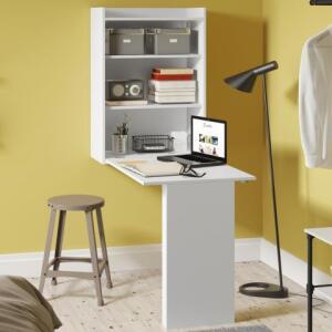 Armário Multiuso Mesa Dobrável de Parede Branco Premium - Multimóveis | R$171