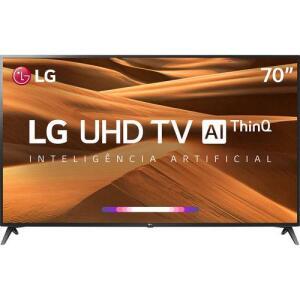 "[APP] Smart TV LED 70"" LG 70UM7370PSA Ultra HD Thinq AI Conversor Digital Integrado 3 HDMI 2 USB Wi-Fi | R$5.579"