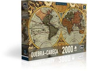 Quebra Cabeça 2000 Peças - Mapa Mundi Toyster | R$70