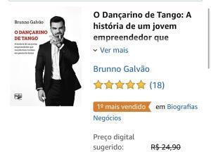 E-book grátis - O Dançarino de Tango, Brunno Galvão