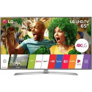 "Smart TV LED 65"" LG Ultra HD 4K 65UJ6545 Painel IPS HDR e Magic Mobile Connection - R$ 5129"
