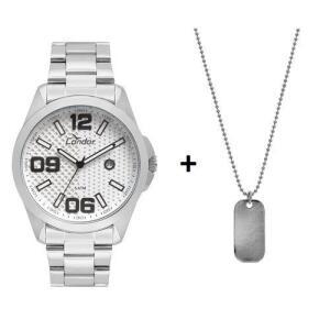 Relógio Condor Masculino Speed Prata Com Colar -co2115ksy/k3k por R$ 79