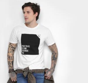 Camiseta Reserva Pai e Filho Estampada Masculina - Branco