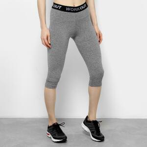 Calça Corsário Gonew Workout Feminina - Mescla R$20