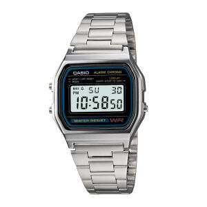 Relógio Casio Vintage Unissex Prata Digital A158WA-1DF por R$ 120
