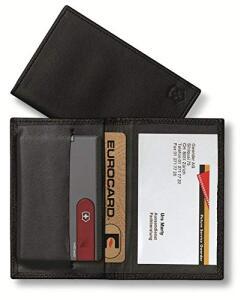 Porta Cartões Swisscard Victorinox Couro Preto | R$49