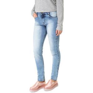 Calça Jeans F+ Skinny Acid Wash Azul   R$55