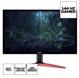 Monitor Gamer Acer Kg241q Full Hd 144hz 1ms Hdmi Displayport R$959