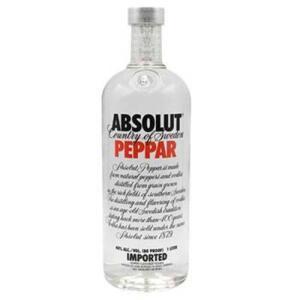 [Com AME R$ 60] Absolut Vodka Peppar Sueca - 1l | R$120