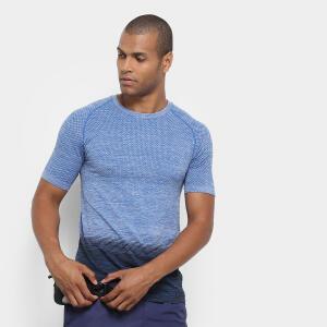Camiseta Gonew Seamless Degradê Masculina - Azul R$25