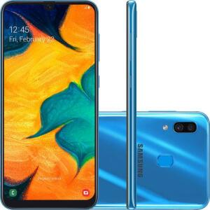 Smartphone Samsung Galaxy A30 64GB Dual Chip Octa-Core   R$931