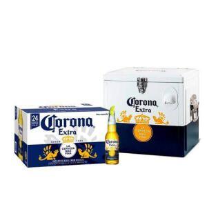 [R$ 99,50 AME] Kit Corona Extra 355ml (24 Unidades) + Cooler Corona 15l | R$180