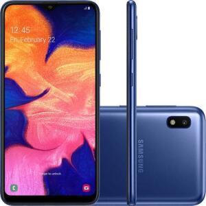 [Cartão Shoptime + AME]Smartphone Samsung Galaxy A10 32GB Dual Chip Android- Azul Por 530,00