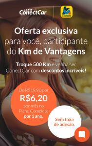 [Exclusivo KM de Vantagens] Plano Completo ConectCar R$ 6,20 por mês durante 12 meses