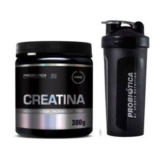 Creatina Probiotica 300g + Coqueteleira + FG