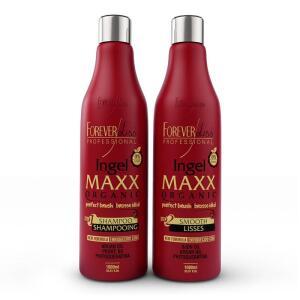 Nova Escova Progressiva Ingel Maxx Forever Liss 2x1 litro | R$95