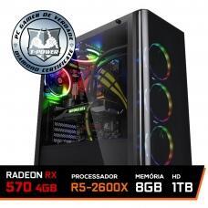 Pc gamer T-Power LVL 5 AMD 2600x RX 580
