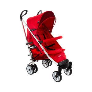 Carrinho de Bebê Cosco 6 Rodas 4 Posições Deluxe Plus Vermelho | R$399