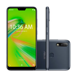"Smartphone Asus Zenfone Max Plus M2 32GB Preto 4G Tela 6.2"" Câmera Dupla 12MP Selfie 8MP Android 8.0 Oreo"