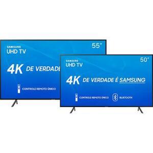 SmartTV LED 55'' Samsung 55RU7100 + SmartTV LED 50'' Samsung 50RU7100