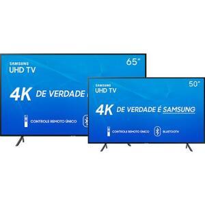 Smart TV LED 65'' Samsung 65RU7100 + Smart TV LED 50'' Samsung 50RU7100