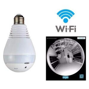Câmera Lâmpada LED 360º WIF por R$ 65