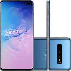 "[R$: 2.786 AME + Cartão Shoptime] Smartphone Samsung Galaxy S10+ 128GB Dual Chip Android 9.0 Tela 6.4"" Octa-Core 4G - R$3167"