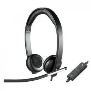 Headset com Microfone Logitech H650E Stereo   R$230