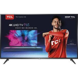 Smart TV LED 65 TCL P65US Ultra HD 4K HDR Integrado - R$3229