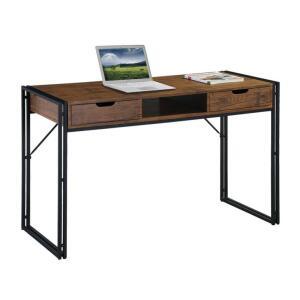 Escrivaninha Wooden Marrom e Preta | R$450