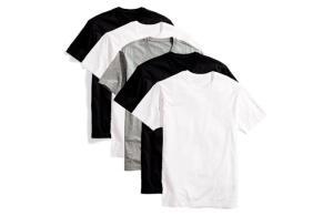 Kit 5 Camisetas Básicas Masculina T-Shirt Algodão R$49
