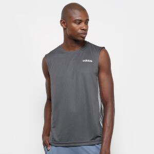 Camiseta Regata Adidas Design 2 Move 3 Stripes Masculina Tamanho P - Cinza - R$34,99