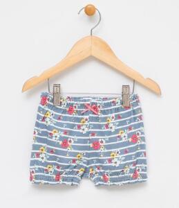 Short Infantil com Estampa Floral - Tam 0 a 3 | R$10
